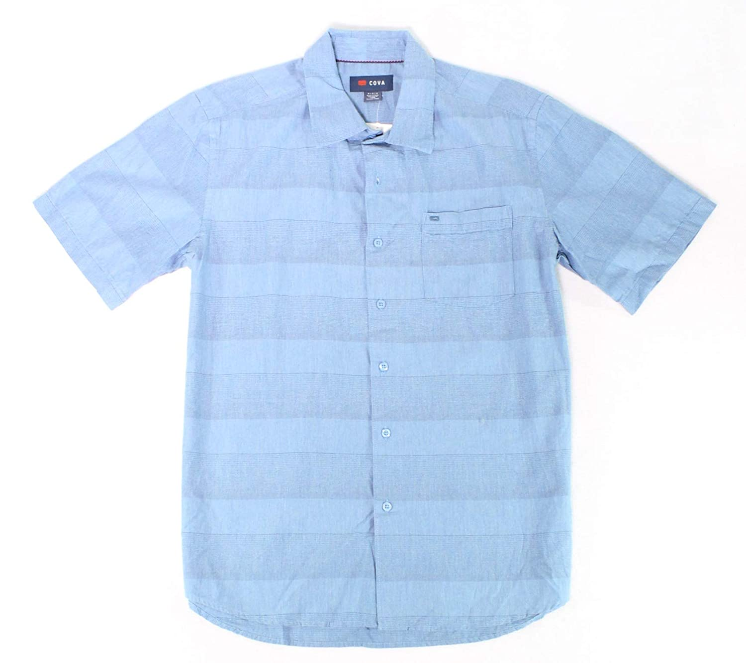 Cova Solid Mens Medium Striped Button Down Shirt