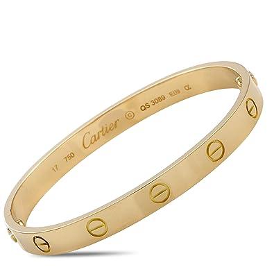 ec24b705961fc Amazon.com: Luxury Bazaar Cartier Love 18K Yellow Gold Bracelet and ...