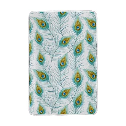 Swell Amazon Com Vantaso Soft Warm Blankets Watercolor Peacock Pabps2019 Chair Design Images Pabps2019Com