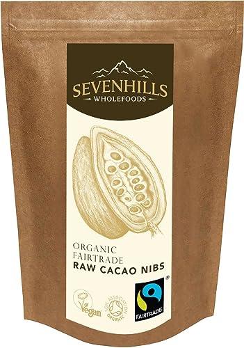 Sevenhills Wholefoods Organic Fairtrade Raw Cacao Nibs 300g