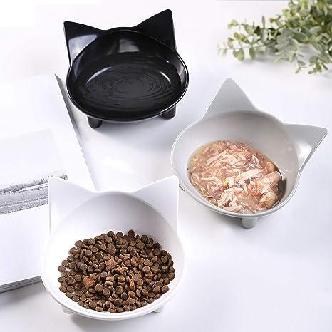 lesotc - Cuenco Antideslizante para Comida de Gato, Cuenco de Agua para Gatos, Plato