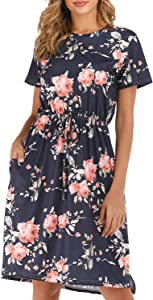 Giveaway: fitglam Women's Casual Summer Floral Dress Short Sleeve…