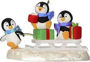 Hallmark Keepsake Christmas Ornament 2019 Year Dated Sledding Shenanigans Penguins
