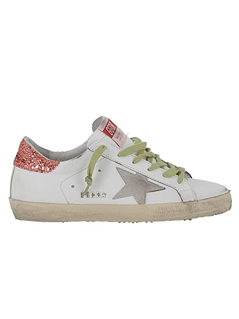 Golden Goose Mujer G34ws590n90 Blanco Cuero Zapatillas: Amazon.es: Zapatos y complementos