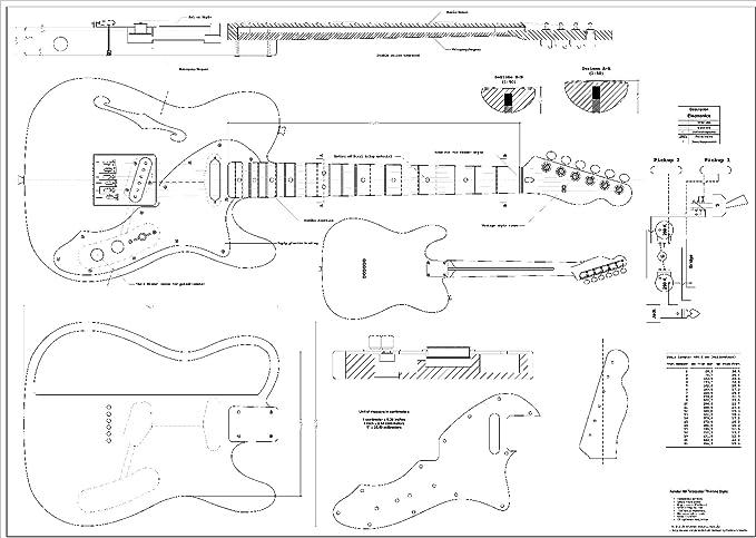 Planes de escala completa para la guitarra eléctrica Fender ...