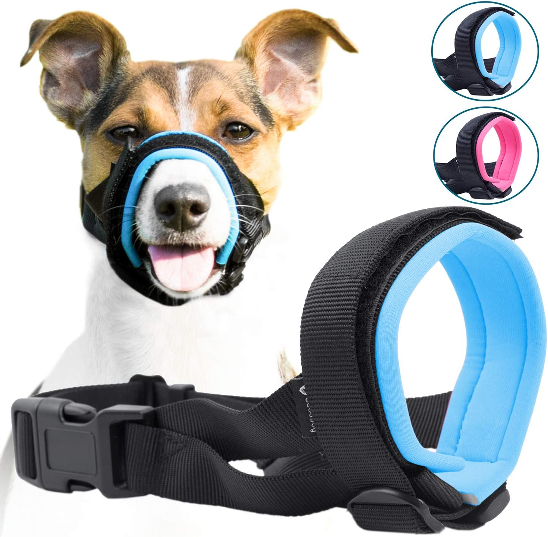 GoodBoy Bozal de protección Suave para Perros – Evita mordiscos, ladrido y masticación (XL, Azul)