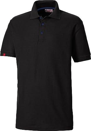 a7b409a4e9cf29 ColorU - unisex Poloshirt schwarz / Oberteil für Damen und Herren,  kurzärmeliges T-Shirt