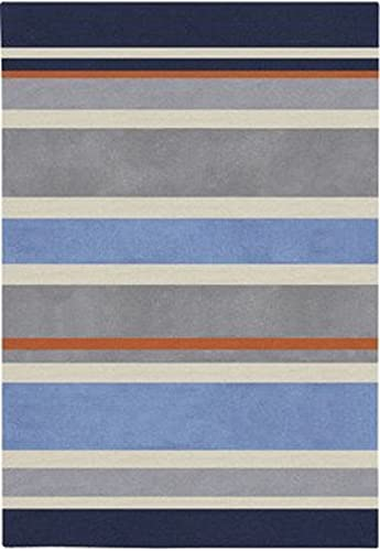 Surya Chic CHI-1040 Contemporary Hand Tufted 100 Poly-Acrylic Dark Periwinkle 6 x 9 For Kids Area Rug