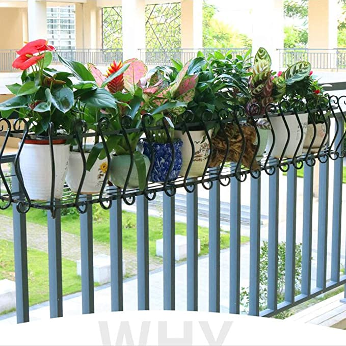 Jardinería Hierro Forjado Barandilla Flor Estante Balcón ...