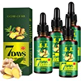 4 PACK Ginger Germinal Oil,Hair Growth Serum,2020 Hair Growth Ginger Essential Oil Hair Growth Oil Hair Loss Treatment…
