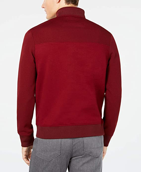 Ryan Seacrest Mens Quarter Zip Pullover Sweater