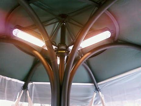 WindChaser Warm Brella Umbrella Electric Outdoor Halogen Patio Heater Model  No. 3UPH