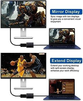 Adaptador USB 3.0 a HDMI, adaptador USB a HDMI, adaptador de cable de gráficos de video HD 1080P para computadora portátil TV HDTV Windows 7/8/10 PC, (NO MAC & VISTA): Amazon.es: Electrónica
