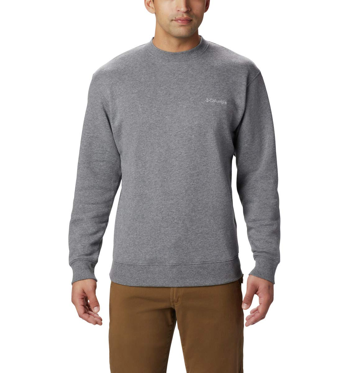 Columbia Men's Hart II Crew Sweatshirt, Charcoal Heather, XX-Large by Columbia
