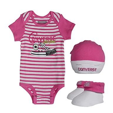 83d465ef6 Converse Baby 3 piece Gift Set Mod Pink: Amazon.co.uk: Clothing