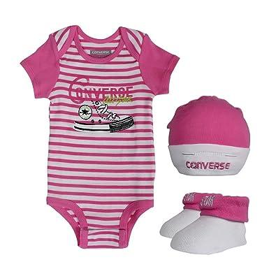 21907144436 Converse Baby 3 piece Gift Set Mod Pink  Amazon.co.uk  Clothing