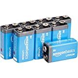 AmazonBasics 9 Volt Lithium Batteries - Pack of 8