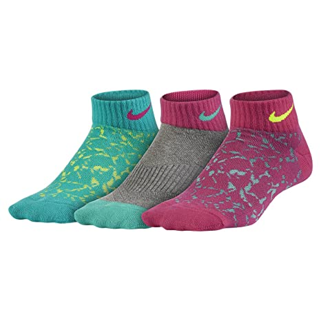 Nike 3P Girls Graphic LTW CTN Low Pack 3 Pares Calcetines ...