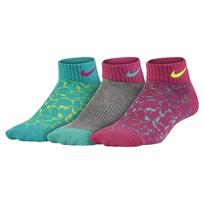 Nike Boys Dri-FIT Cushioned Crew Athletic Socks 3 Pack