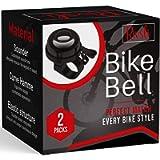 2 Pack Classic Bike Bell, Bicycle Bell | Loud Crisp Clear Sound Bicycle Bike Bell, City Bike, BMX Bike, Sports Bike for…