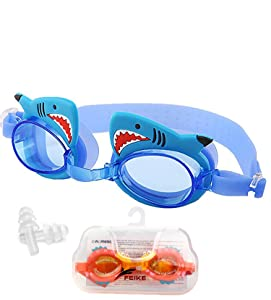 June Sports Swimming Goggles for Kids, No Leak Anti Fog UV Protection Triathlon Swim Goggles with Free Protection Case for Children Teens Age 3-12,Extra Ear Plugs Multiple Cute Cartoon Styles SG7
