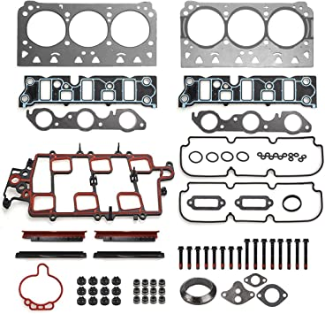 HEAD GASKET SET+BOLTS+SILICONE FOR97-05 GM 3.8L 3800 231 2ND DESIGN