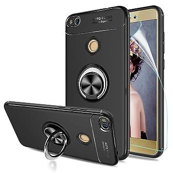 LeYi Funda Huawei P8 Lite 2017 con Anillo Soporte,360 Grados Giratorio Ring Grip con Kickstand Gel TPU de Silicona bumper Case Carcasa Fundas Huawei ...