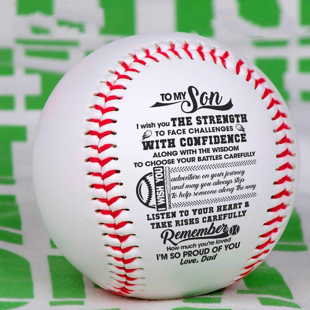 Diameter 8cm for League Play Keepsakes Arts and Crafts and Autographs I Am So Proud of You Baseball Ball SX130 Dad to Son Practice Trophies Competitions Gifts