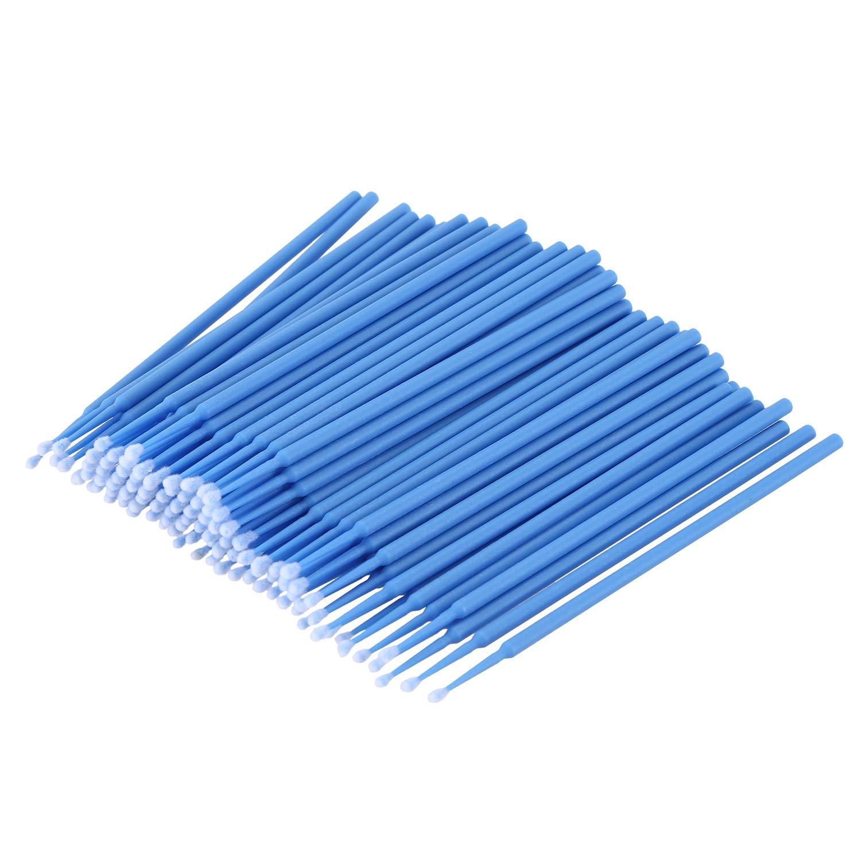 TOOGOO 100 Pcs Dental Micro-Brush Disposable Materials Tooth Applicators Medium Fine(dark blue)