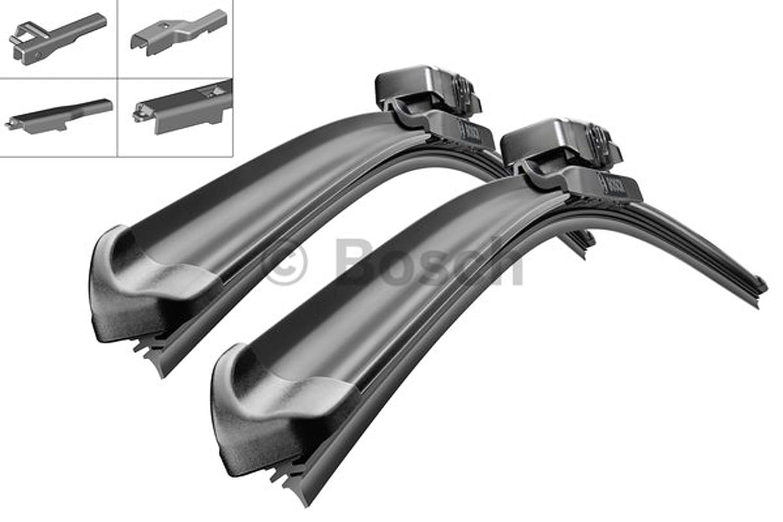 BOSCH Aerotwin AM467S 3397007467 Escobillas Limpiaparabrisas 650 / 475 Set + 2 x Escobillas de goma de Repuesto BOSCH Aero Serie 2mmService: Amazon.es: ...
