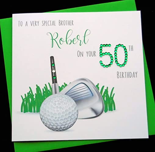 Image Unavailable Not Available For Colour Handmade Personalised Golf Theme Birthday Card