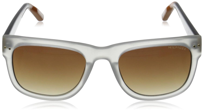 05cbb8fa675d Amazon.com: Tommy Hilfiger Men's THS Men153 M.x'tal/o Wayfarer,  Clear,Tortoise & Orange, 53 mm: Clothing