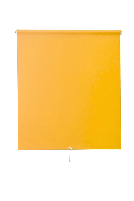 Sunlines HWA10249 Springrollo Energie, Stoff, mandarine gelb/silber, 222 x 180 cm
