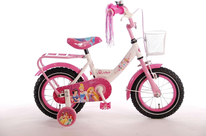 Bicicleta niña de 12 pulgadas Disney Princess ruedas extraíbles ...