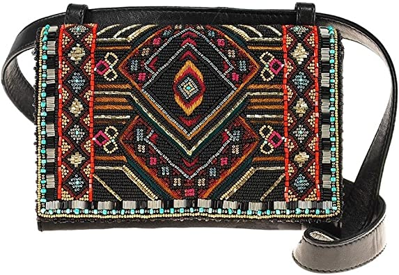 MARY FRANCES Vortex Beaded and Embroidered Crossbody-Belt Bag