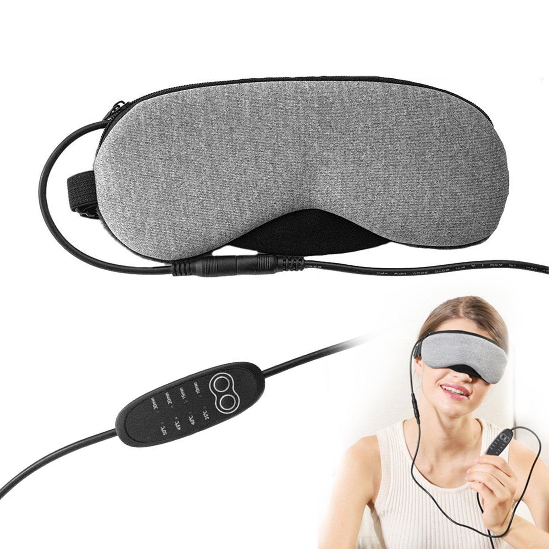 Sleep Eye Mask, riscaldamento portatile USB Steam Eye Mask con temperatura regolabile, progettato per alleviare lo stress, stanco, occhi secchi, Blefarite Dee Banna