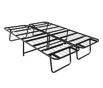 hlc 15inch folding heavy duty smartbase mattress foundation platform bed frame queen - Mattress Frame