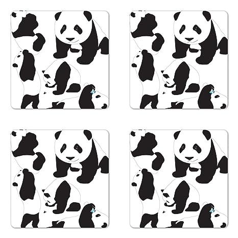 Amazon.com: Zoo posavasos juego de cuatro por Ambesonne ...
