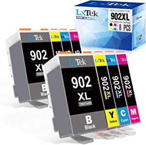 LxTek Compatible Ink Cartridge Replacement for HP 902XL 902 902 XL to use with Officejet 6978 6968 6958 6954 6962 Printer (2 Black, 2 Cyan, 2 Magenta, 2 Yellow, 8 Pack)