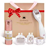 ZUSTBEAUTY | Derma Roller Kit for Face, Body, Stomach, Lip | 0.3MM Titanium Microneedle Roller Heads: 180 for Near Eyes…