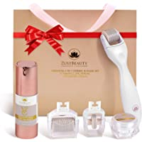 ZUSTBEAUTY | ALL IN 1| Derma Roller Kit With Vitamin C 25% Serum & Collagen Cream | For Face, Body, Beard, Hair, Stomach…