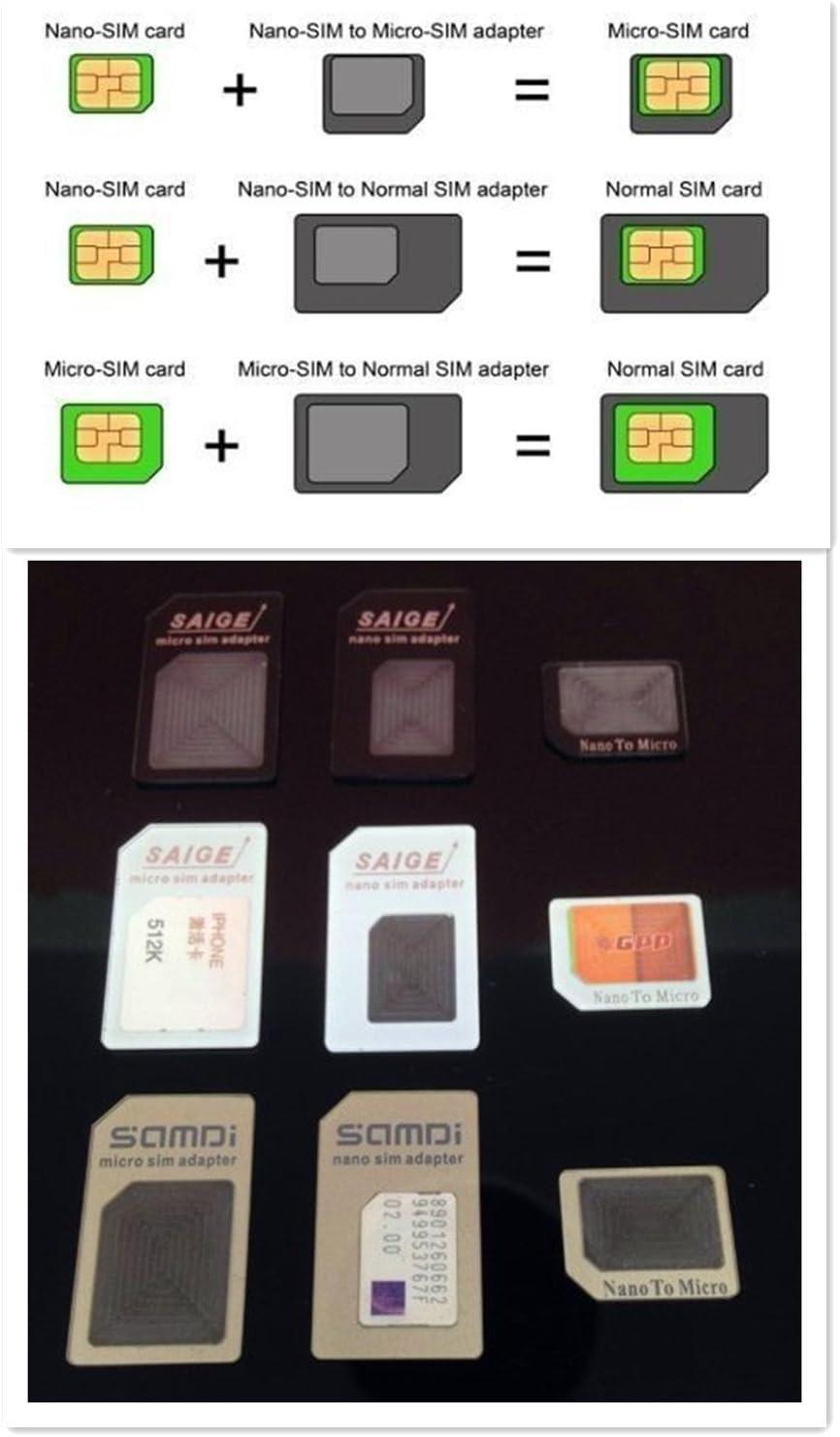 Adaptador de Tarjeta SIM (Nano SIM Adaptador: Amazon.es: Electrónica