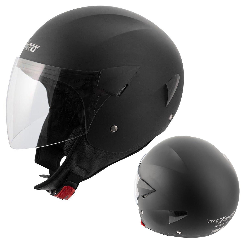 Motorradhelm Motorrad Roller Jet Helm Demi Jet Scooter Schwarz XS A-PRO 5180000077013