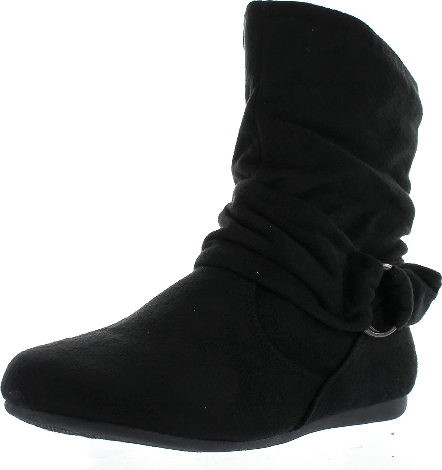 Black Flat Ankle Boots For Women