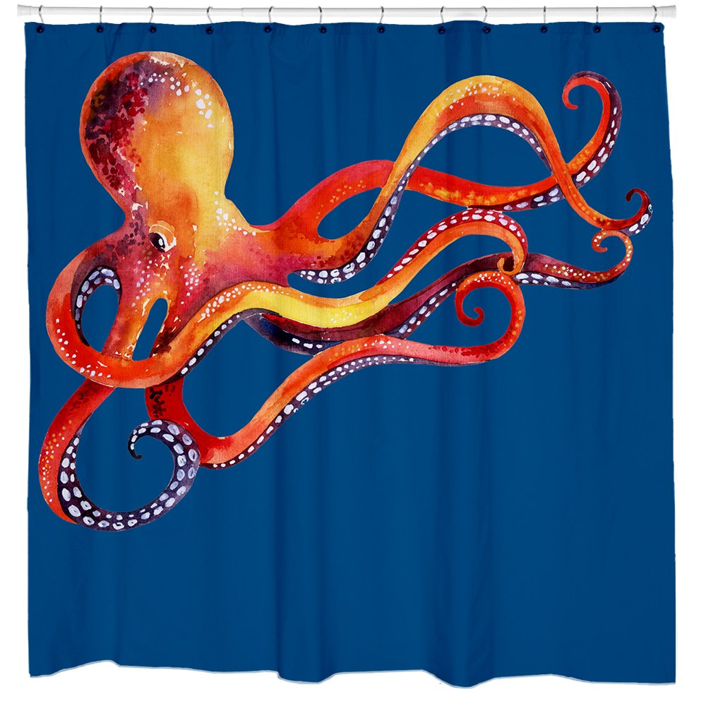 Cute Octopus Shower Curtain Kraken Nautical Decor Kids Bathroom