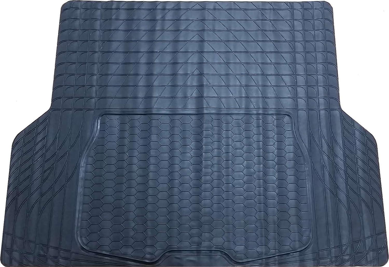 Xtremeauto/® Gro/ße wasserdicht schwere Kofferraummatte aus Gummi /inkl xtremeauto-Aufkleber rutschsicher zuschneidbar/