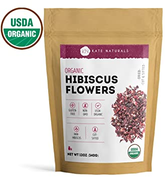 Amazoncom Organic Hibiscus Flowers By Kate Naturals Dried Cut