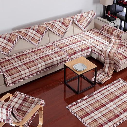 DIGOWPGJRHA Toalla de cojín del sofá,sofá Juego de Toallas ...