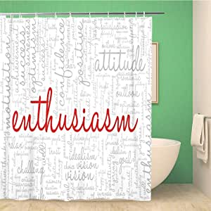 Bathroom Shower Curtain Conceptual of Tag Cloud Containing ...