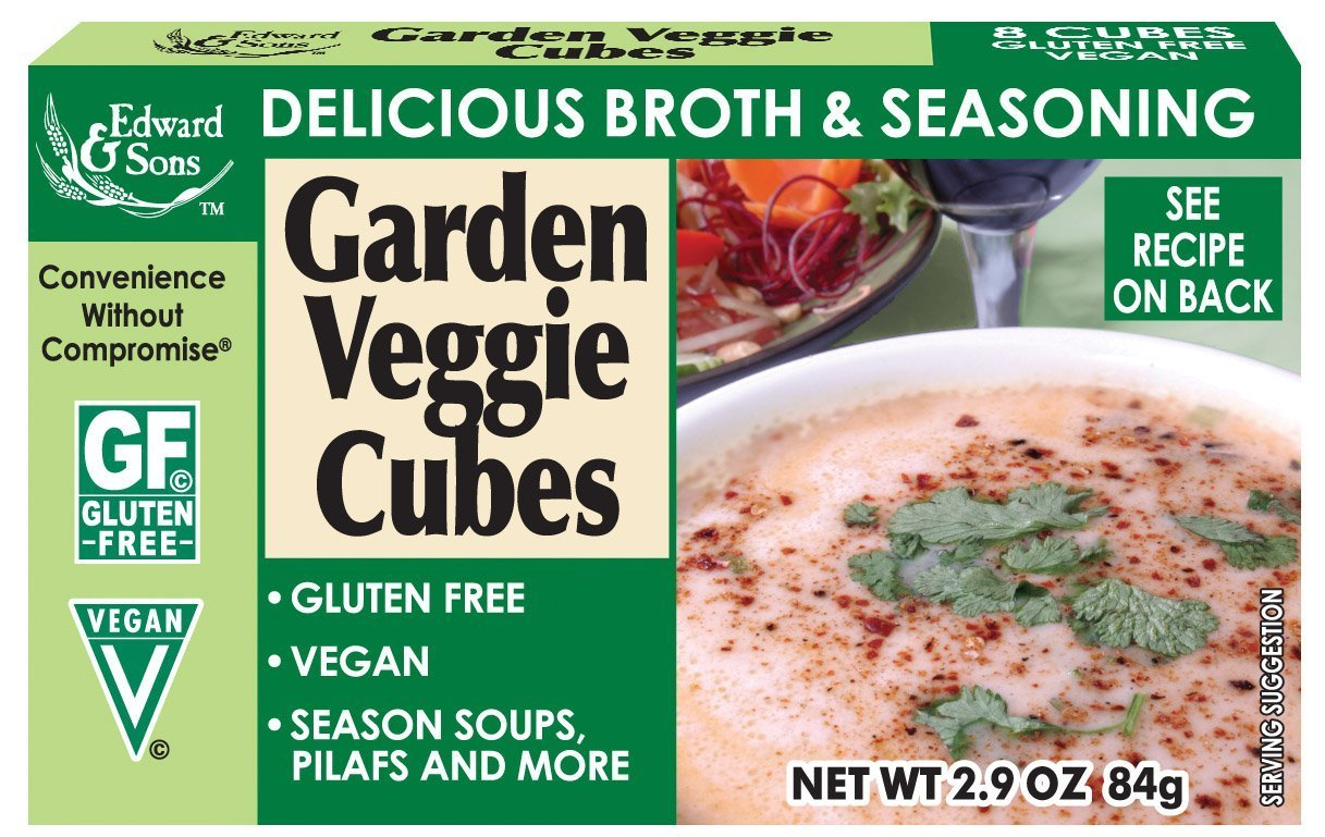 Edward & Sons Garden Veggie Bouillon Cubes, 2.9 Ounce Boxes (Pack of 12)
